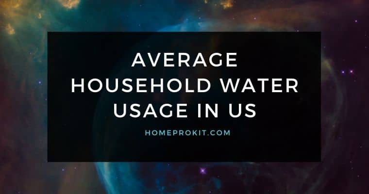 Average Household Water Usage in US